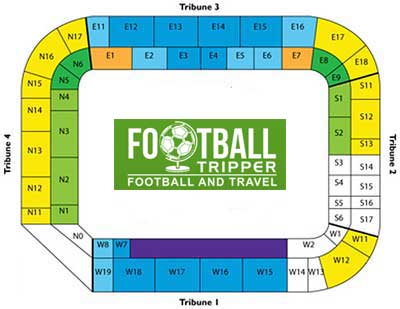 Seating plan of Anderlecht's stadium