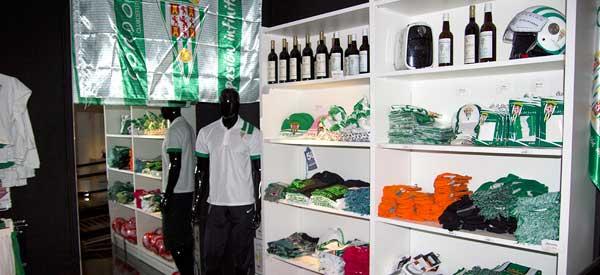 Interior of Cordoba CF club shop