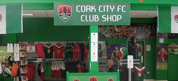 Exterior of Cork City club shop