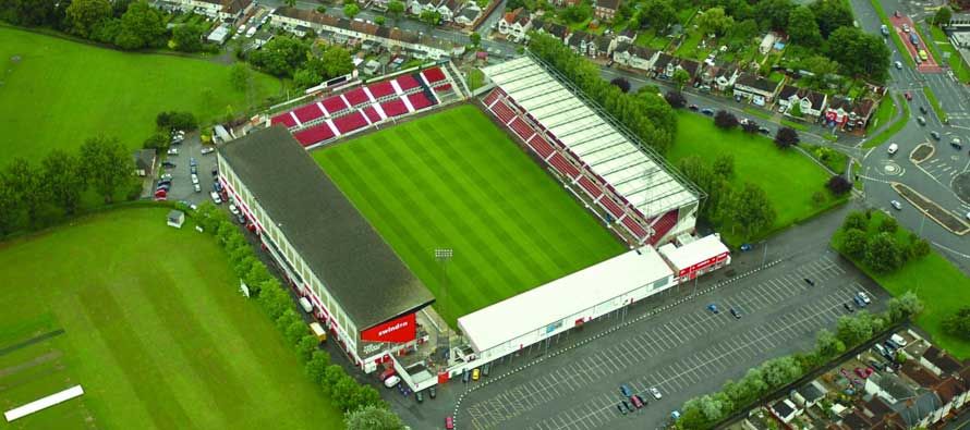 Inside County Ground Swindon