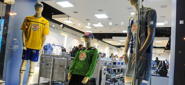 A look inside Coventy's club shop