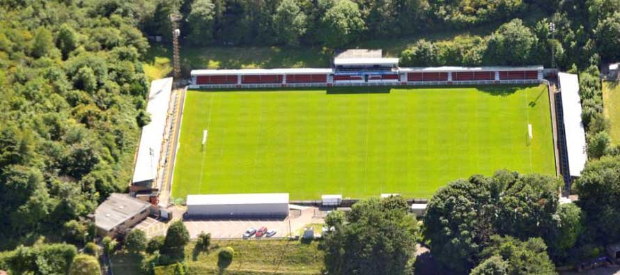 Aerial view of Crabble Athletic Ground