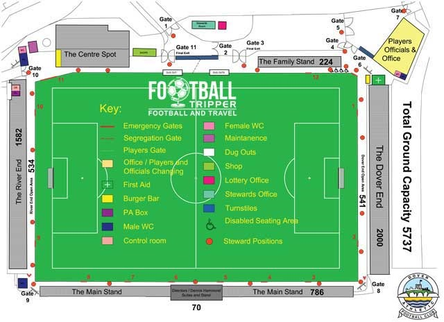 Crabble Athletic Ground map