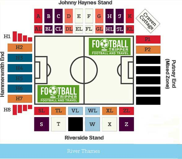 Craven Cottage Seating Plan