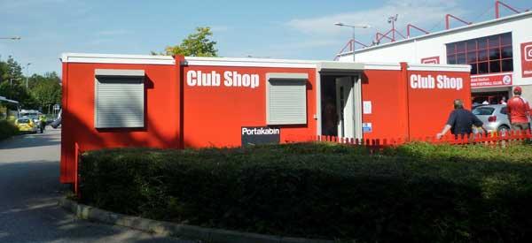 The exterior of Crawley's club shop