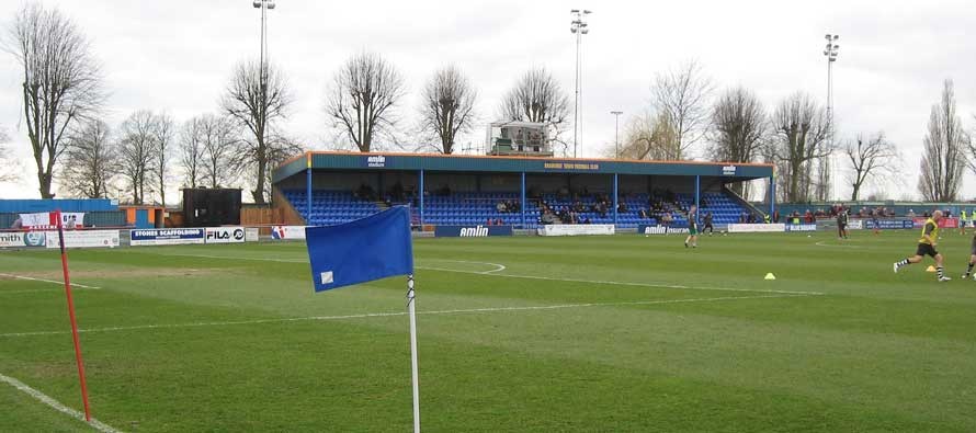 Inside Cressing Road's pitch