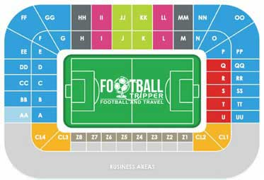 Seating chart for Cristal Arena