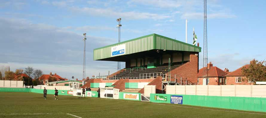 Croft Park's main stand