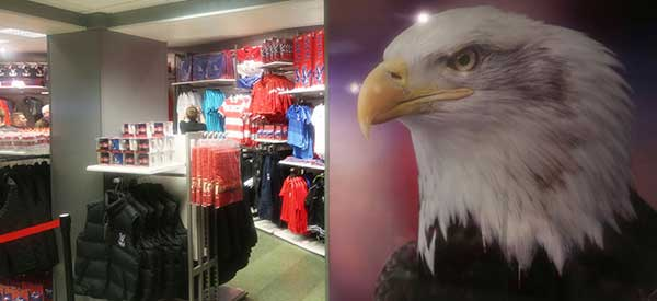 The interior of Crystal Palace's club shop