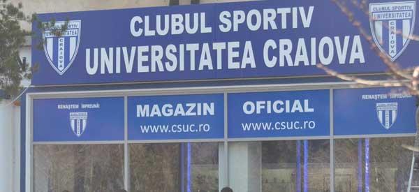 Exterior of CS Universitatea Craiova shop