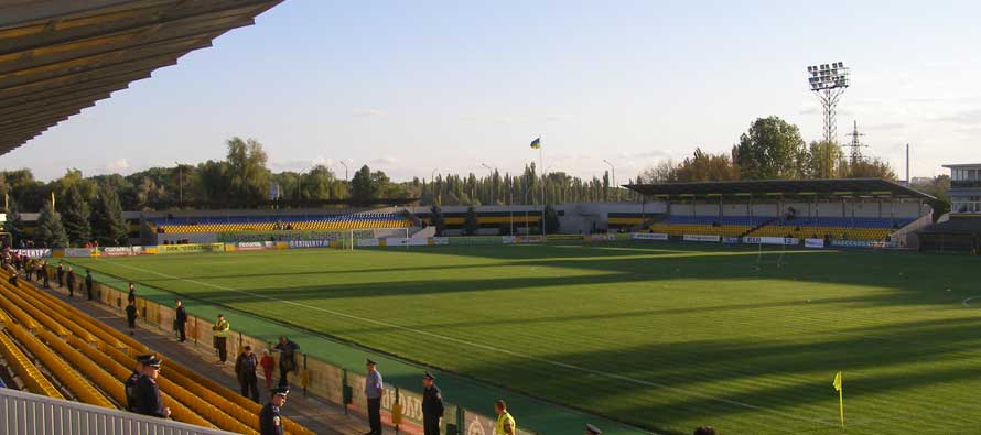 The pitch at CSC Nika stadium