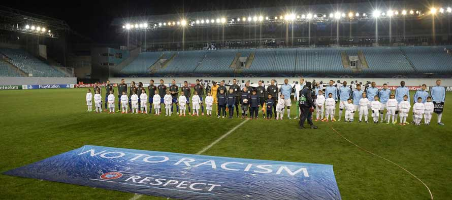 Players Line up CSKA Moscow V Man City