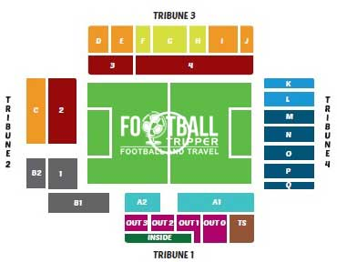 Seating chart for Daknamstadion