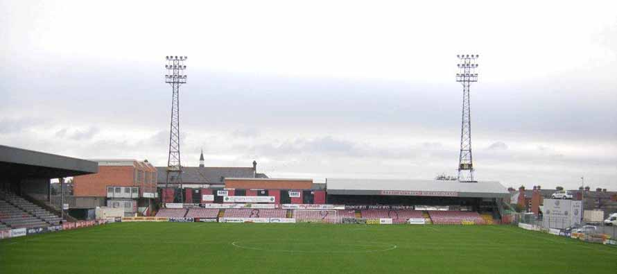 Dalymount Park goal end stand