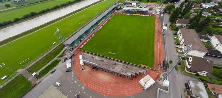 Aerial view of Reichshofstadion