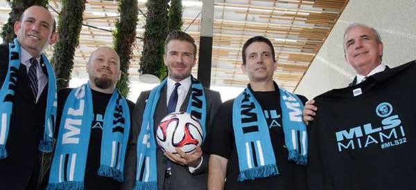 David Beckham with Miami Investors