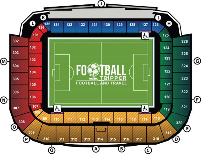 De Grolsch Veste seating plan