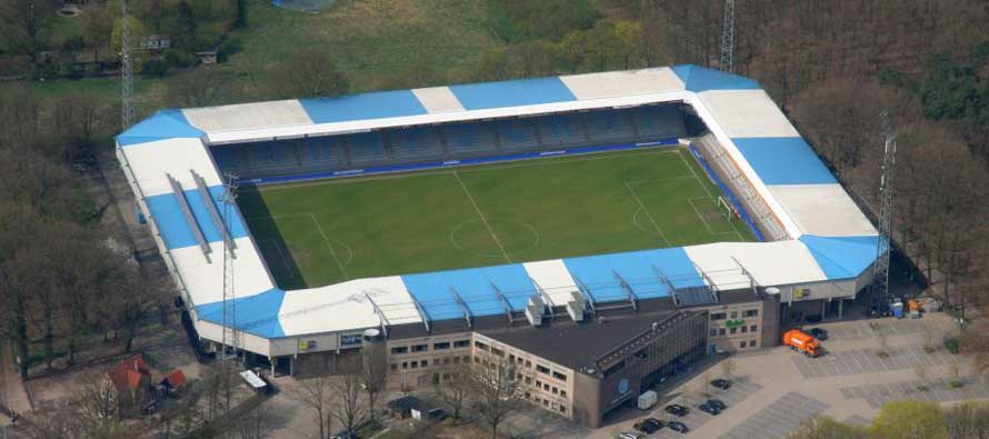 Aerial view of de Vijverberg stadion