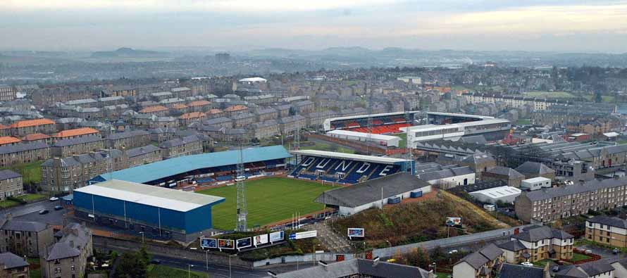 Aerial view of Dens Park