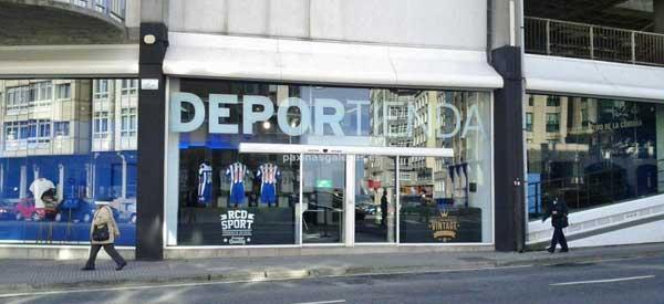 Exterior of Deportivo la Coruna club shop