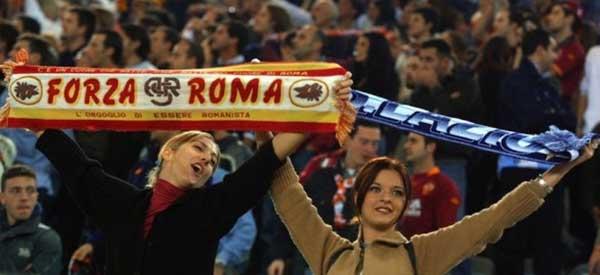 Roma and Lazio female fans