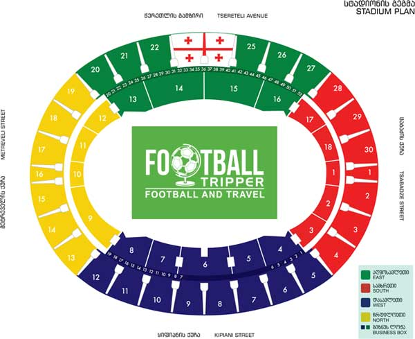 Seatingn plan for Georgia's national stadium
