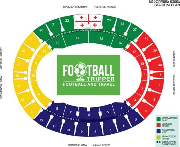 Seatingn plan for Georgia's national stadium