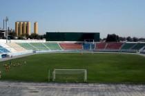 The empty pitch at Dinamo Stadium