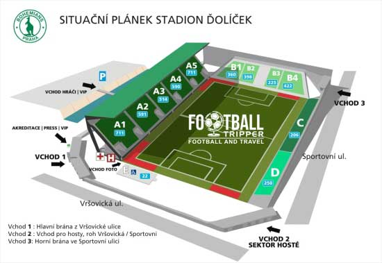 Ďolíček Stadium seating plan