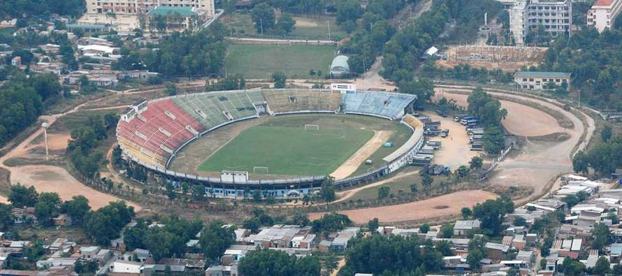 Aerial view of Dong Nai Stadium