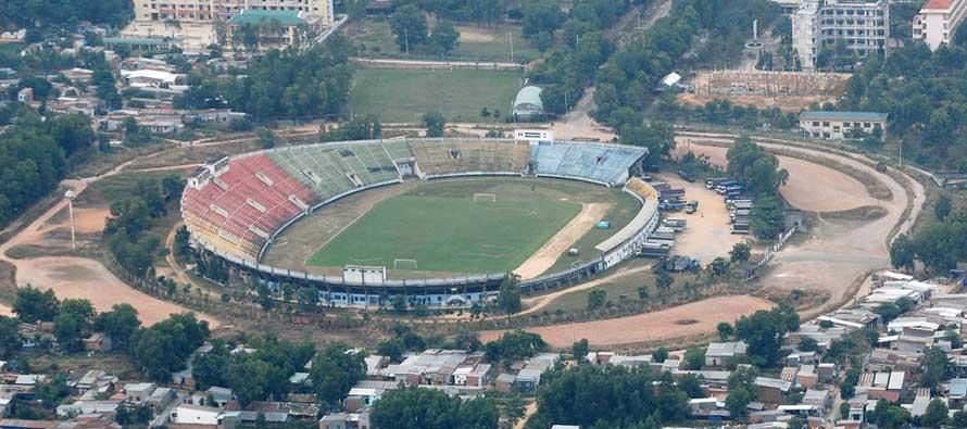 Aerial view of Dong Nai Stadium