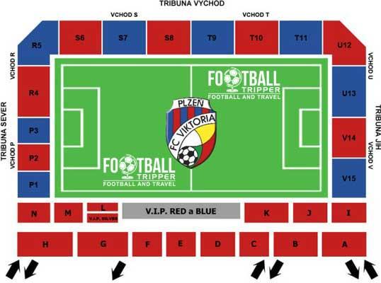 Seating chart of Doosan Arena