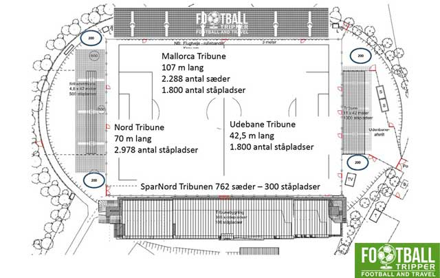 Building plan for Hobro's DS Arena
