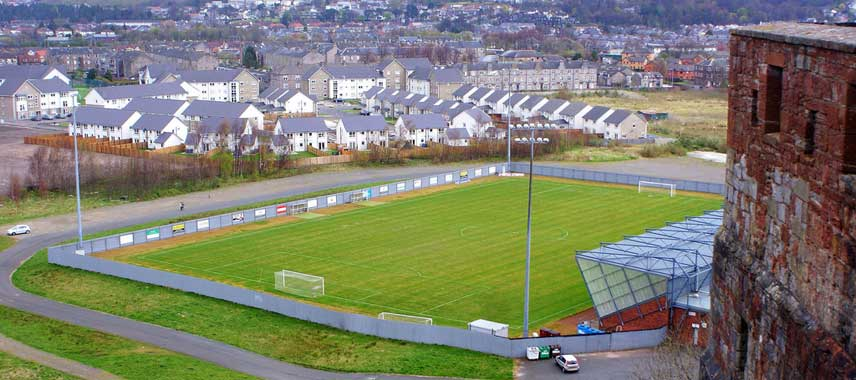 aerial view of Dumbarton Stadium