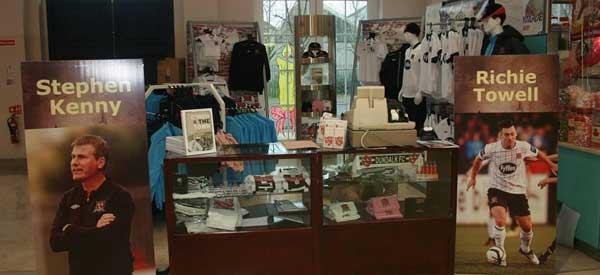 Interior of Dundalk FC club shop