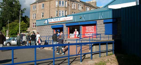 Exterior of Dundee FC club shop