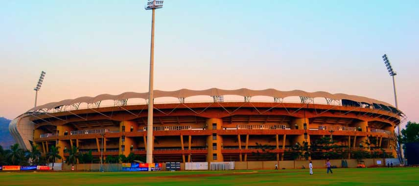 Exterior of DY Patil Stadium