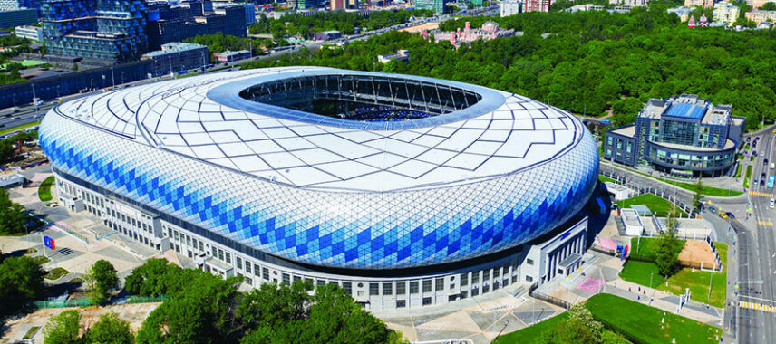 VTB Arena aerial in Moscow