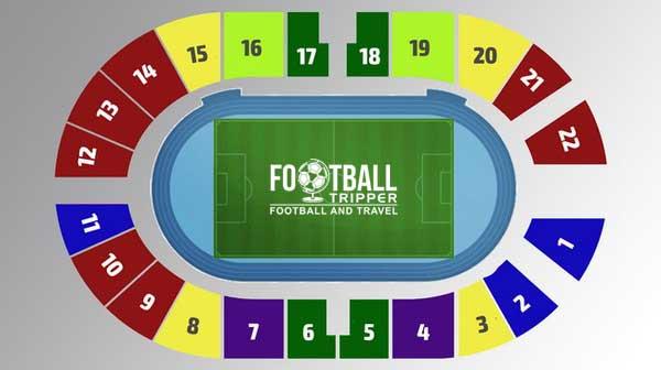 Dynamo Stadium seating plan