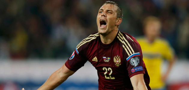 A surprise to many, Zenit St. Petersburg striker Dzyuba emerged as Russia's top scorer during Euro 2016 qualifying.
