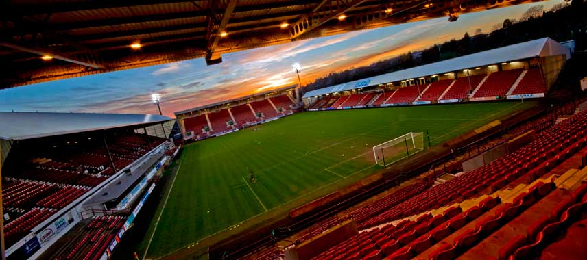 Artistic show of the pitch at East End Park