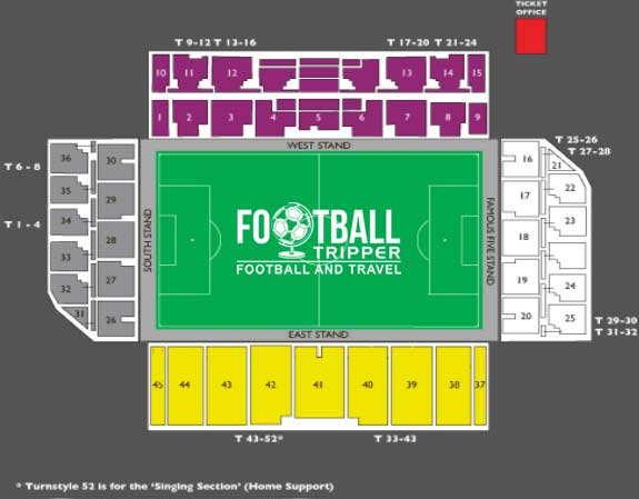 Easter Road Ground seating chart