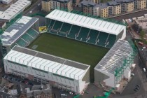 Aerial view of Easter Road Stadium