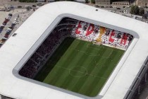 Aerial view of Eden Arena