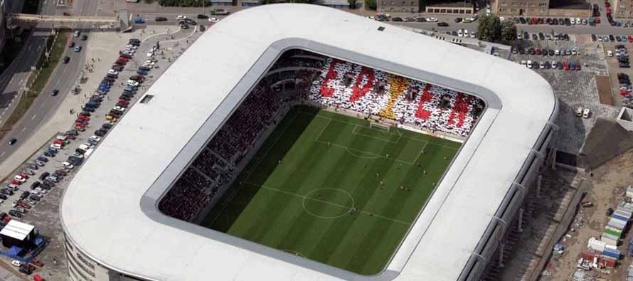 Aerial view of Eden Arena