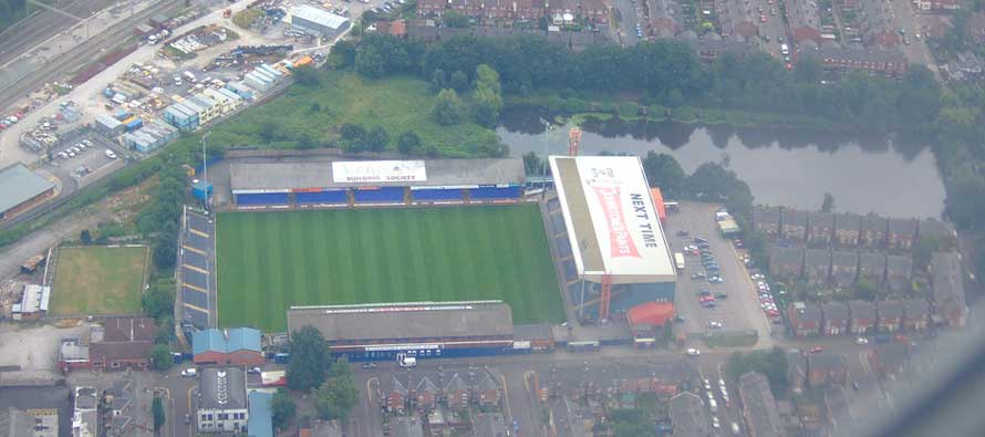 Aerial view of Edgeley Park