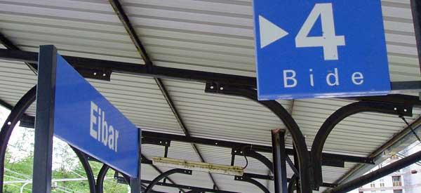 Eibar Train Station Sign