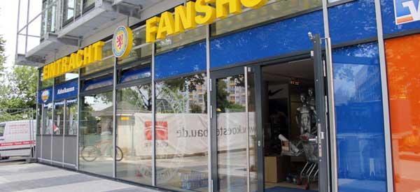 Exterior Eintracht Braunschweigh club shop