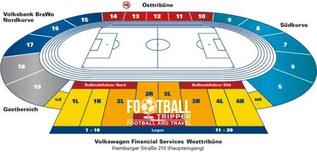 Eintracht Stadion Braunschweigh Seating Plan