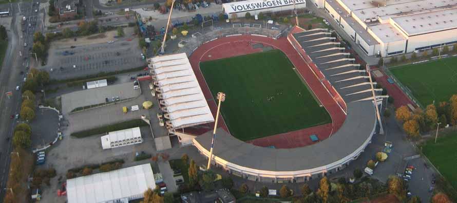 Eintracht Stadion Aerial View